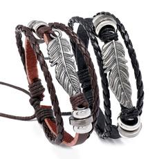 Jewelry, genuine leather, punk, menwomenbracelet