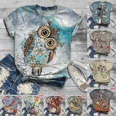 Owl, Plus Size, Summer, summer t-shirts