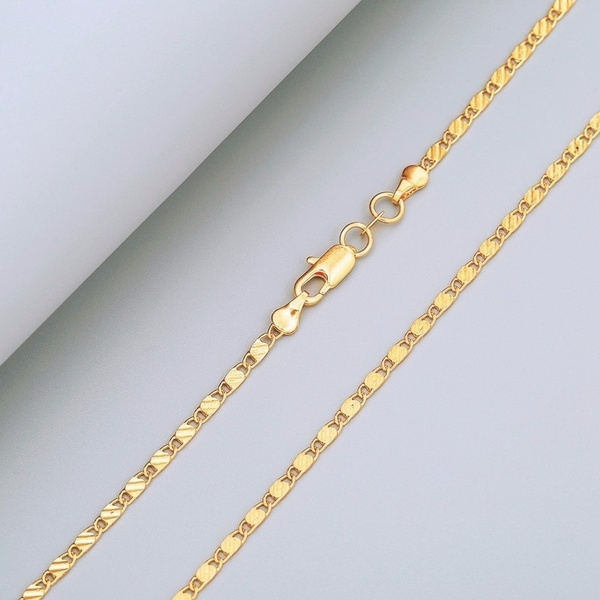 goldplated, Chain Necklace, 18kgoldnecklace, Jewelry