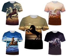 Summer, horse, Funny T Shirt, tshirt men
