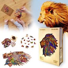 King, Magic, Entertainment, lionwoodenpuzzle