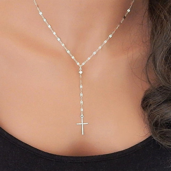 Sterling, Chain Necklace, Jewelry, Cross Pendant