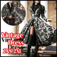 Vintage, Fashion, Winter, long dress