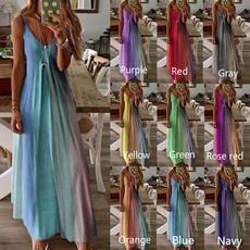 Deep V-Neck, Summer, Plus Size, sexy dresses