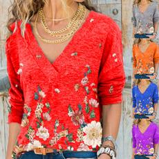 fashion women, Plus Size, autumnblouse, Fashion