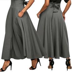 Summer, long skirt, Fashion, high waist