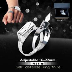 Couple Rings, Box, selfdefensering, portableselfdefensetool