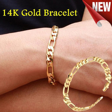 yellow gold, Chain bracelet, Chain, Bracelet