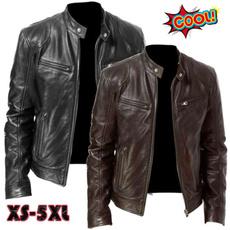 Stand Collar, motorcyclejacket, bikerjacket, Plus Size