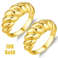 goldplated, Jewelry, 925 silver rings, gold