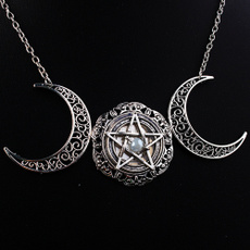 pagannecklace, Fashion Jewelry, triplemoonnecklace, pagan