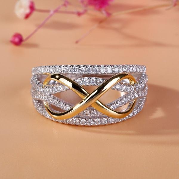 DIAMOND, Jewelry, gold, 925 silver rings