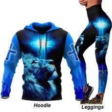 3D hoodies, jesuschrist, lionhoodie, animal print