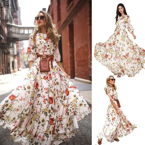 Plus Size, Colorful, Dress, Floral dress