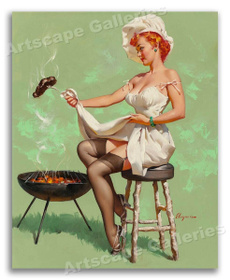sexy, Kitchen & Dining, vintageposter, Home Decor
