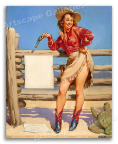 cardecor, Cowgirl, Vintage, Posters
