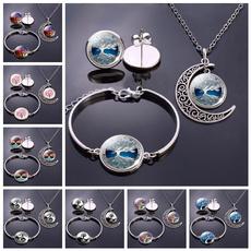 Box, treeoflifejewelryset, necklaceearringsbracelet, Earring