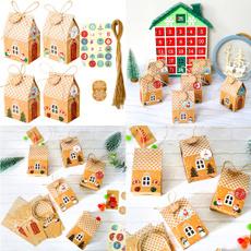Box, christmashousegiftbox, Food, house