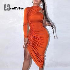Shoulder, Sleeve, solid, Dress
