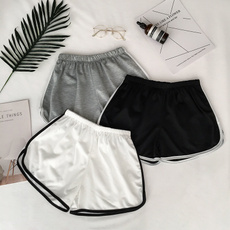 Summer, Shorts, Elastic, Fitness