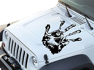 Car Sticker, skull, Jeep, carbodydecal