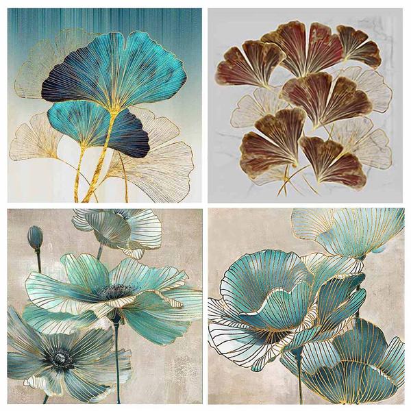 crossstitch, leaf, Home Decor, Handmade