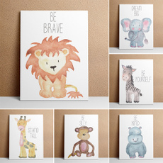 kidsroomwallpainting, Wall Art, Office, animal print