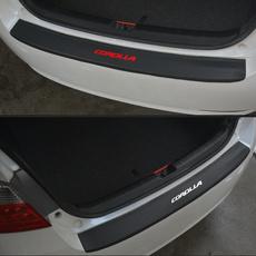 Fiber, carbon fiber, trunkguardplate, afterguardrearbumper