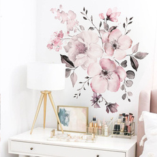 pink, watercolor, Decor, Flowers