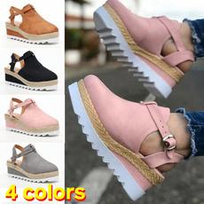 Summer, Sandals, Platform Shoes, round toe