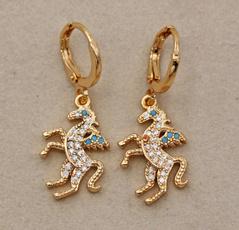 Beautiful, Charm Jewelry, 18k gold, Dangle Earring