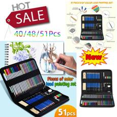 Art Supplies, sketch, art, sketchingpencilsset