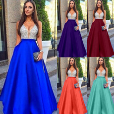Moda, Encaje, chiffon, long dress