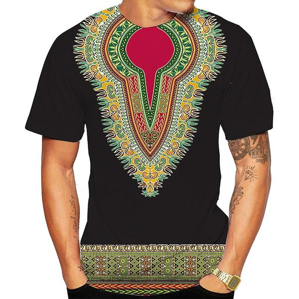 Shorts, Shirt, Colorful, Ethnic Style