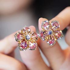 pink, studentearring, Jewelry, wedding earrings