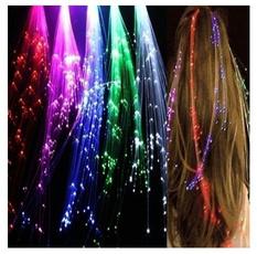 Fiber, led, Barrettes, Hair Extensions