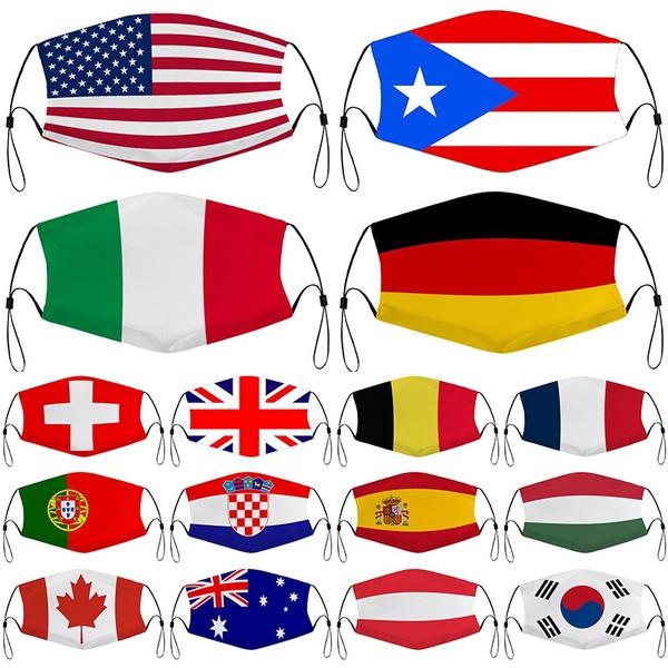 nationalflagprint, unisex, Masks, national