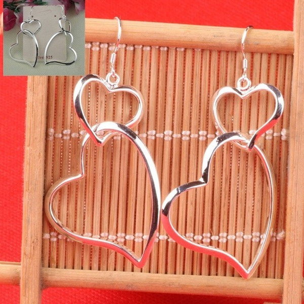 Sterling, Heart, Fashion, Dangle Earring