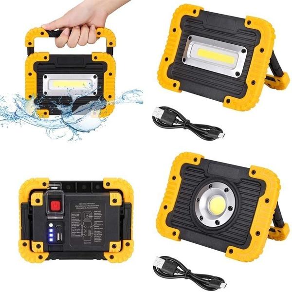 campinglight, led, usb, rechargeablefloodlamp