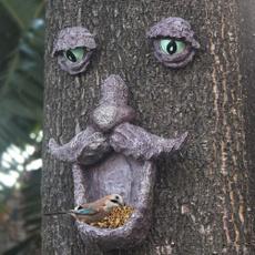 treebirdfeeder, Outdoor, Garden, treefacebirdfeeder