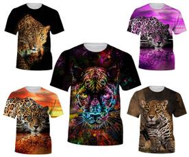 Summer, Fashion, topsandtshirt, leopard print