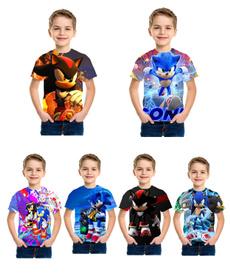 sonic, Fashion, Shirt, short sleeves