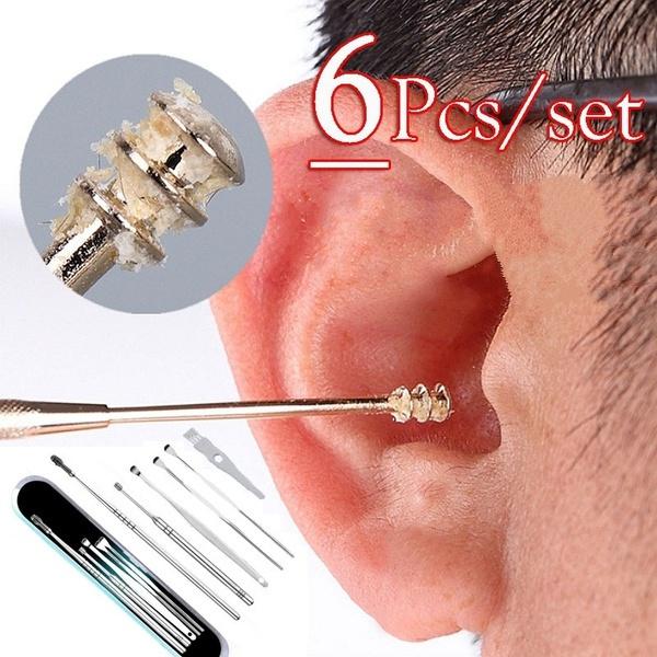 Steel, earcleaner, Beauty, sprialearpick
