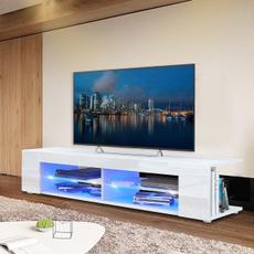 Home & Living, woodtvcabinet, Modern, led