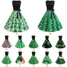 sleeveless, bowknot, Fashion, Vintage