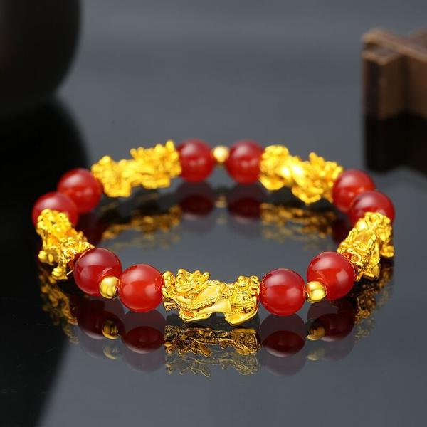 Beaded Bracelets, Jewelry, gold, 8MM