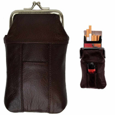 case, brown, Lighter, leather