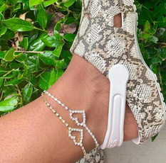 Heart, Fashion, Anklets, gold