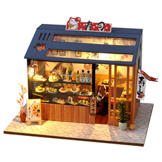 Mini, led, Handmade, housemodelpuzzle