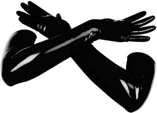 latex, golvesforwomen, longglove, black